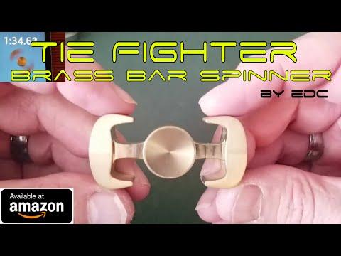 Fidget Spinner Review: EDC Tie Fighter Brass Bar Spinner on Amazon