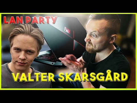 LAN PARTY at Valter Skarsgård with my OMEN X by HP Laptop
