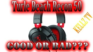 Turtle Beach Earforce Recon 50 Headset - PS4 HeadSet Cheap - PC Stereo Sound TEst