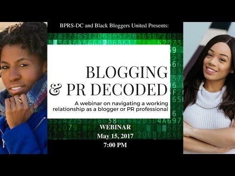 Blogging & PR Decoded