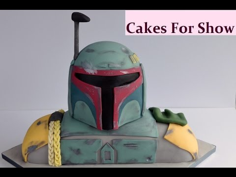 How To Make Boba Fett Helmet Cake