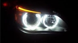 how to install white canbus led halo ring bulbs to bmw e60 5 series