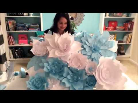 DIY FLORAL BACKDROP Paper Flower Wall Easy/Affordable