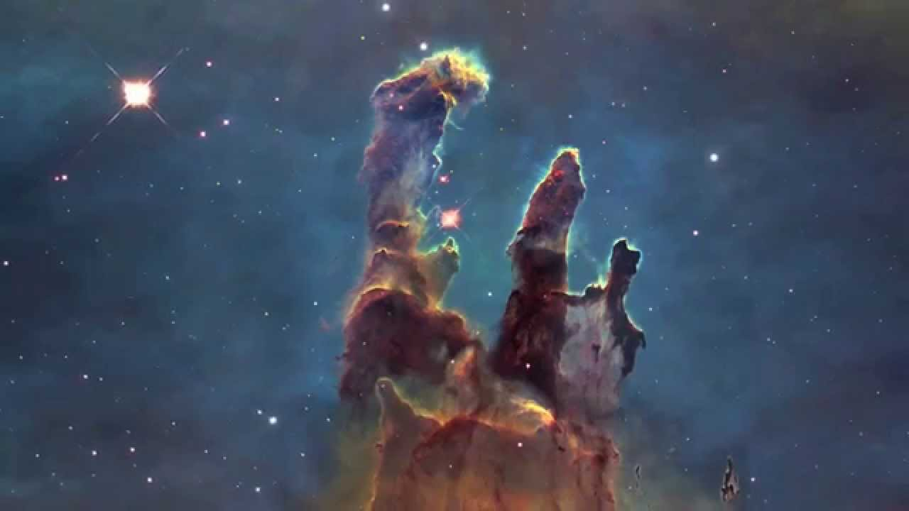 "Eagle Nebula's ""Pillars of Creation"" - an Animated Journey ..."