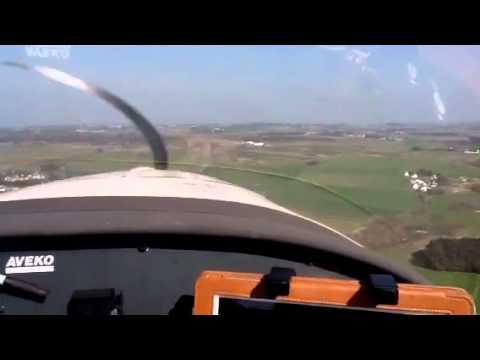 Landing in Belle Île, France