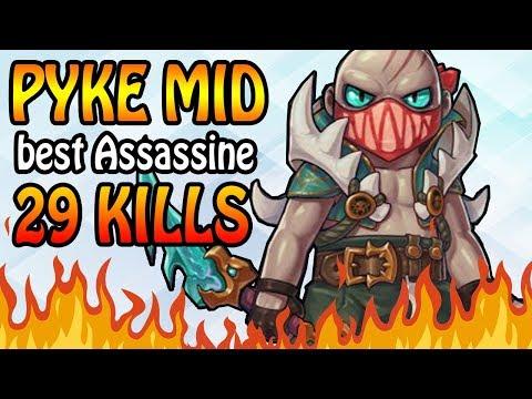 LOL PYKE MID 29 KILLS - Best Assassine in League of Legends thumbnail