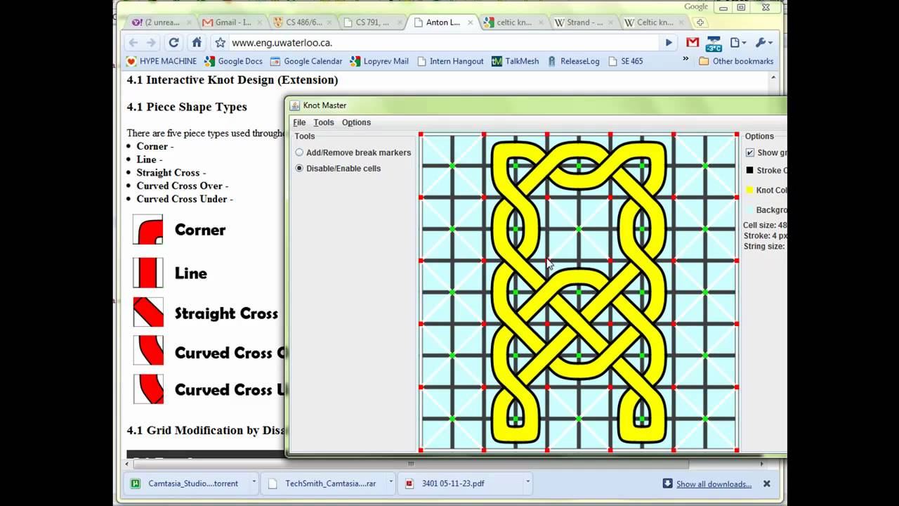 Anton Lopyrev - Interactive Celtic Knots Generator