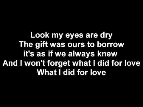 WHAT I DID FOR LOVE LYRICS A CHORUS LINE