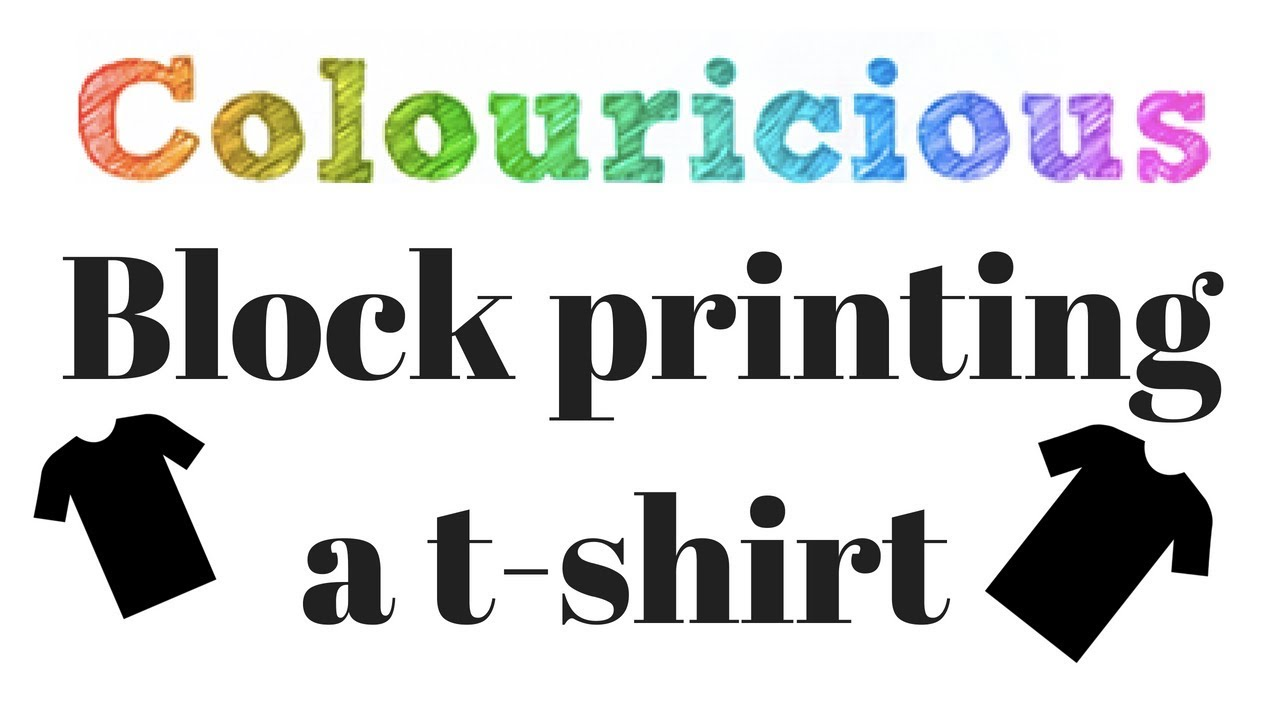 Block print your own t shirt diy t shirt youtube for How to shirt printing