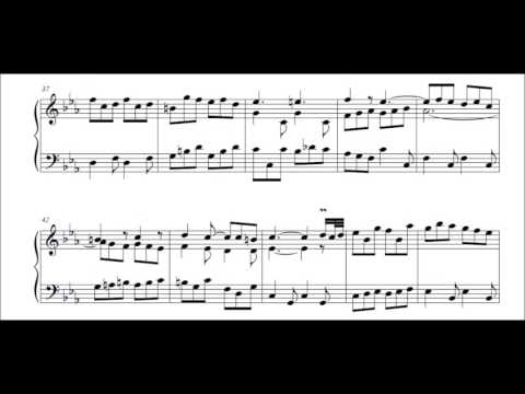 J S Bach French Suite no 4 in E flat  BWV 815  Gigue Murray Perahia