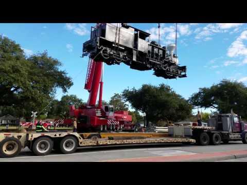 TNT Crane & Rigging Loading Steam Engine