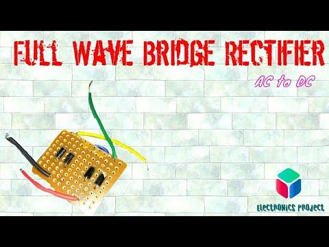 ||Hindi|| How to make Bridge Rectifier diode circuit? AC to DC.