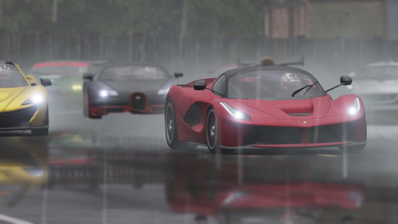 LaFerrari vs McLaren P1 vs Bugatti Veyron - TOP GEAR Track! - YouTube