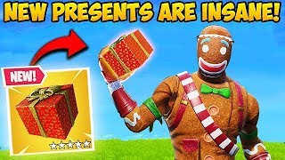 *NEW ITEM* GIANT PRESENTS ARE INSANE! - Fortnite Funny Fails and WTF Moments! #421