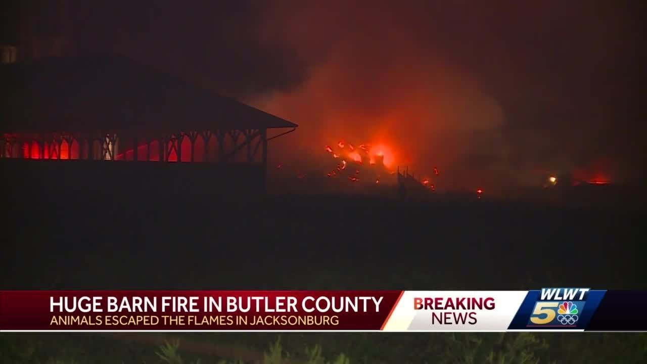 Animals escape massive barn fire at Butler County farm