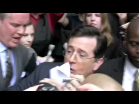 Stephen Colbert files with the Federal Election Commission