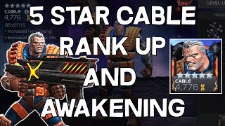 5 Star Cable Rank Up, Awakening And Gameplay - Marvel Contest Of Champions