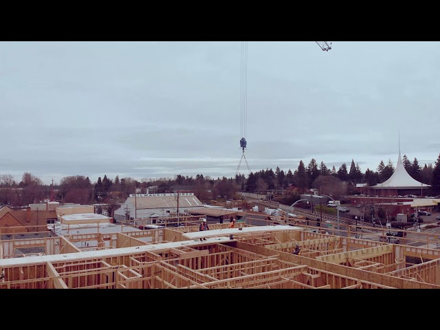 Axltree Apartments | CLT Installation | R&H Construction