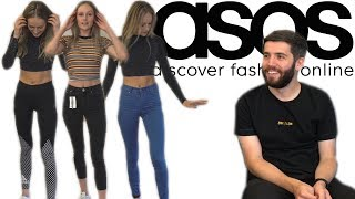 BOYFRIEND DOES MY ASOS SHOP! // TRY ON HAUL