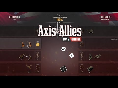 Axis & Allies 1942 Online: (Placement) vs Warmagician #3  