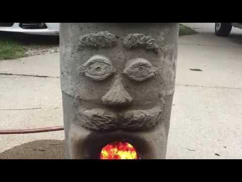 DIY Wood Fired Rocket Stove Outdoor Bath