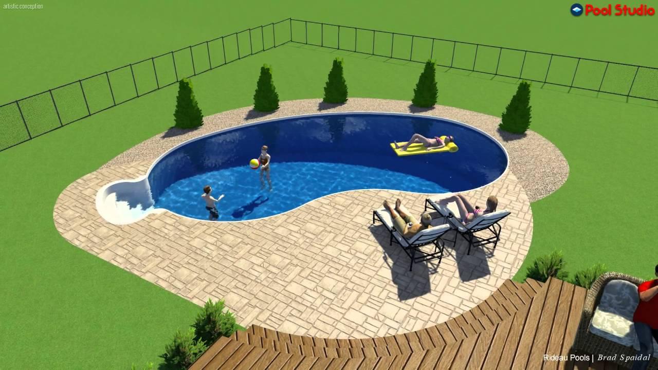 16x32 Semi Inground Pool By Rideau Pools Ottawa Youtube