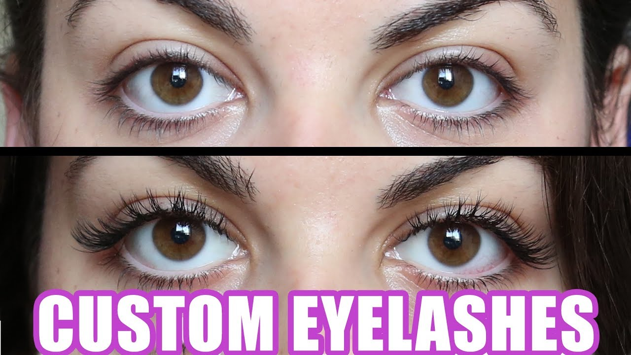 Custom Eyelash Extensions Vs Cheap Eyelashes Youtube