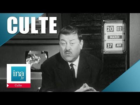 Culte: les actualités télérévisées, le journal du 1er avril de Francis Blanche   Archive INA