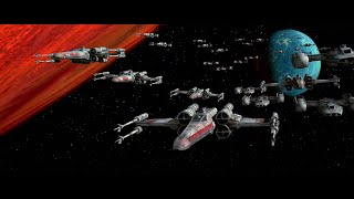 Battle of Yavin starfighter battle scenes (no unfitting music)