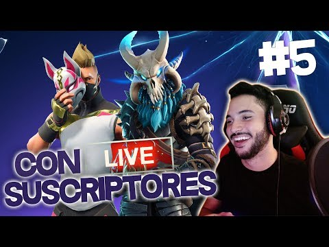 FORTNITE CON SUSCRIPTORES! (Fortnite Battle Royale)
