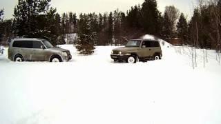 На стрельбище через снежную целину на Тагере (Корандо) и Паджере(, 2017-01-29T11:58:35.000Z)