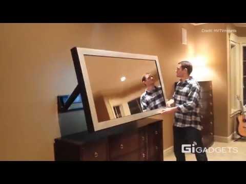 hidden vision tv mounts | art & entertainment - youtube