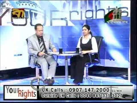 "Barrister Monwar Hossain on ""Your Rights"" on BTV (UK). 2 Nov 2010"