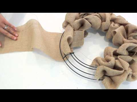 How to make a Burlap Wreath | 2 Minute Tutorial