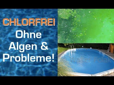 nie mehr chlor chlortabletten und algen im pool problemlos chlorfrei baden youtube. Black Bedroom Furniture Sets. Home Design Ideas