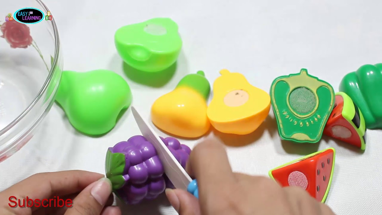 Baby Learn Fruits Names  With Velcro Cutting - EL