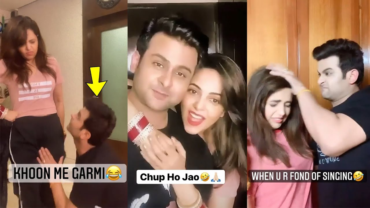Newly married Couple🥰Dr. Sanket bhosale and Sugandha Mishra Very Funny Comedy Videos
