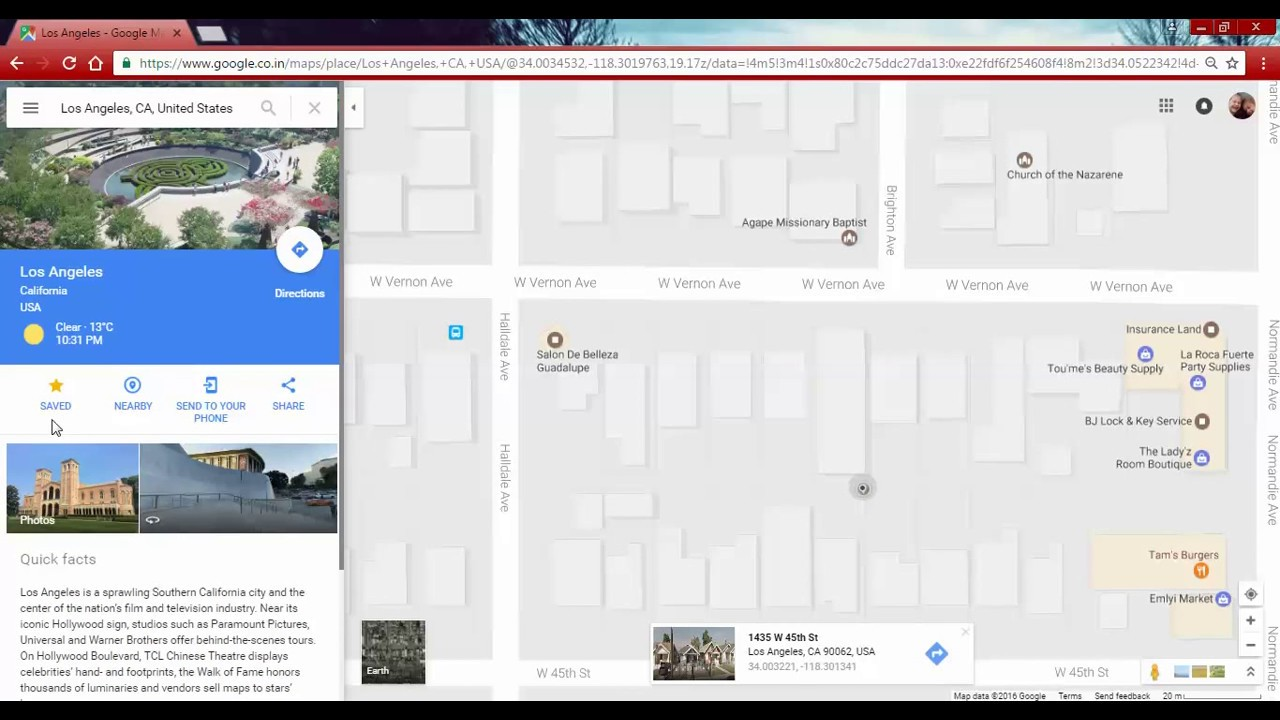 how to get place name in google maps