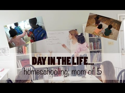 DAY IN THE LIFE | HOMESCHOOLING MOM OF 5!