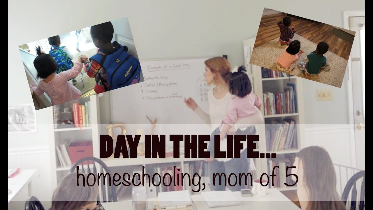 DAY IN THE LIFE | HOMESCHOOLING MOM OF 5! - YouTube