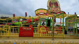 Family Roller Coaster on Funfair (Dragon on Kermis Heerhugowaard) Short Offride 🎢