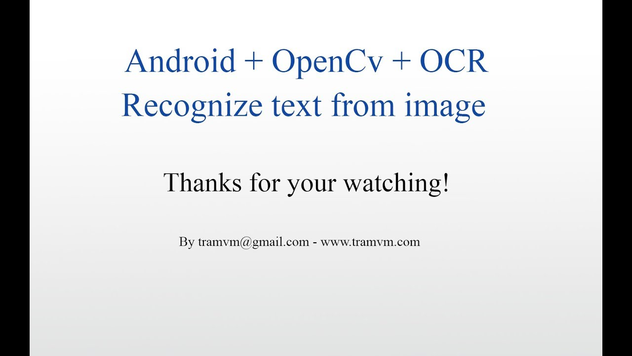 How to recognize text from image with Android OpenCv OCR ?