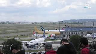 Airbus 50th Anniversary Fly-Past LIVE from Toulouse #Airbus50