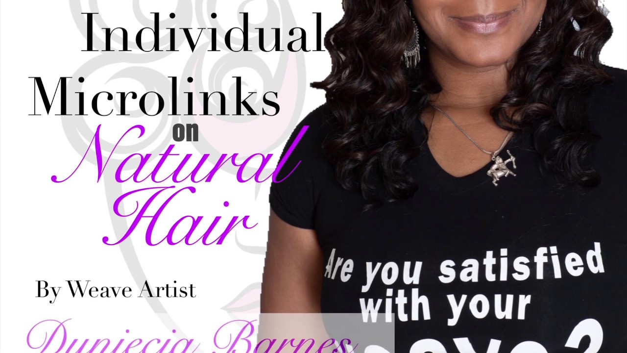 Individual Microlinks on Natural Hair