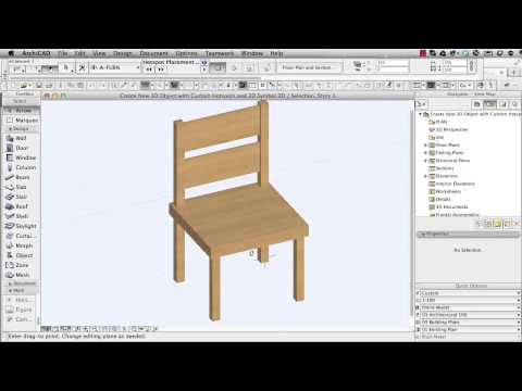 ArchiCAD Tutorial | How to Create a New 3D Object with Custom Hotspots and 2D Symbol