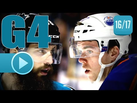 Edmonton Oilers vs San Jose Sharks. 2017 NHL Playoffs. Round 1. Game 4. April 18th, 2017. (HD)