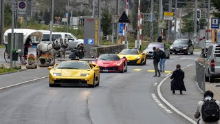 Hot Supercars in Switzerland - LaFerrari, McLaren P1, 2x 918, SLR Stirling Moss, Jaguar XJ220 etc.