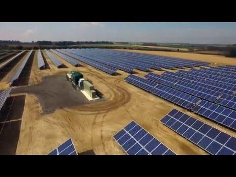 METKA ENG - South Creake Solar Farm - construction video diary by DroneVista