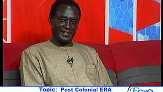ECHO DU 26 AOUT Topic: Post Colonial ERA Changing Africa!