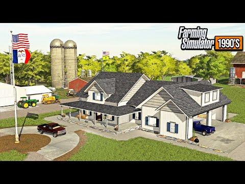 BUILDING NEW $400,000 FARM HOUSE! (DEMOLITION & BUILD) | FARMING SIMULATOR 1990's